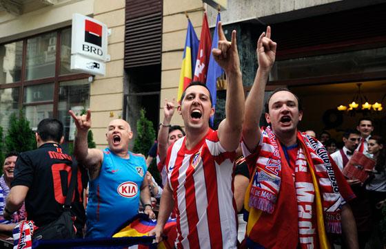 Фанаты Атлетико уже в Бухаресте