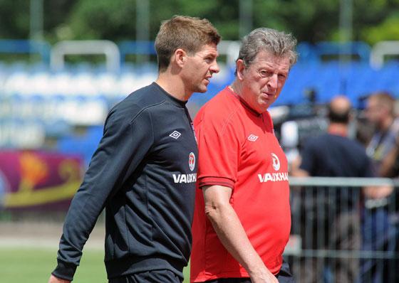 Steven Gerrard & Roy Hodgson
