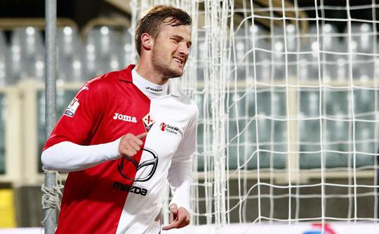 Харис Сеферович в матче против Юве Стабии