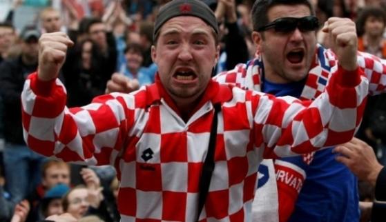 Фанаты сборной Хорватии