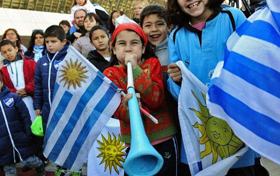 фанаты сборной Уругвая