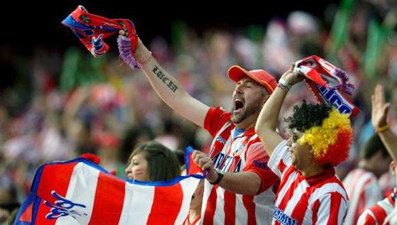 фанаты Атлетико Мадрид