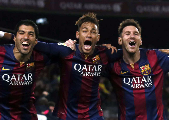 """Ударное трио """"Барселоны"""" - лучшие голы в сезоне"""