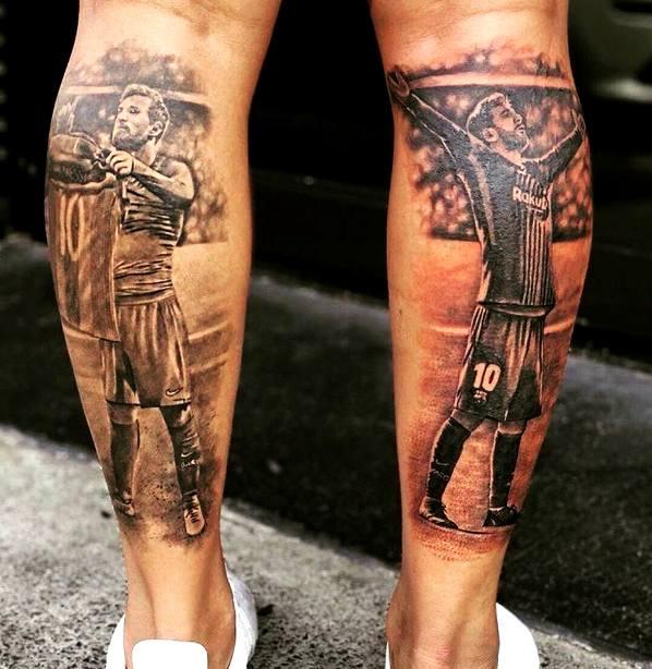 татуировка на ногах барселона
