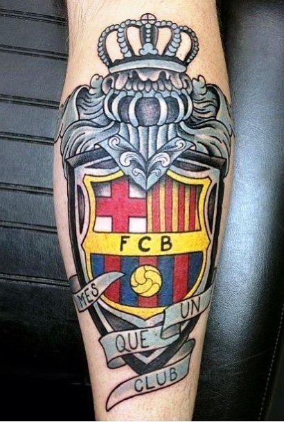 татуировка барселона герб