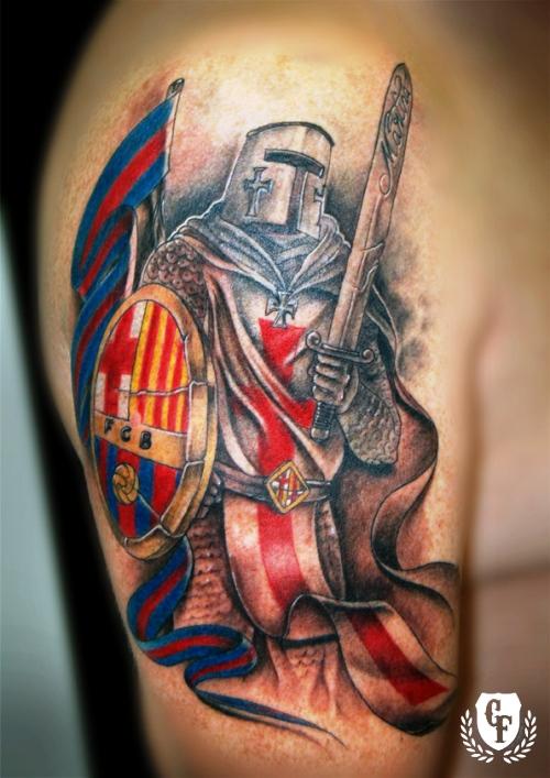 рыцарь тату барселона футбольный клуб