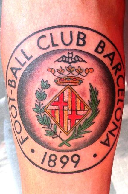 старый герб барселоны татуировка