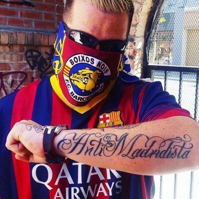 antimadridista барселона татуировка