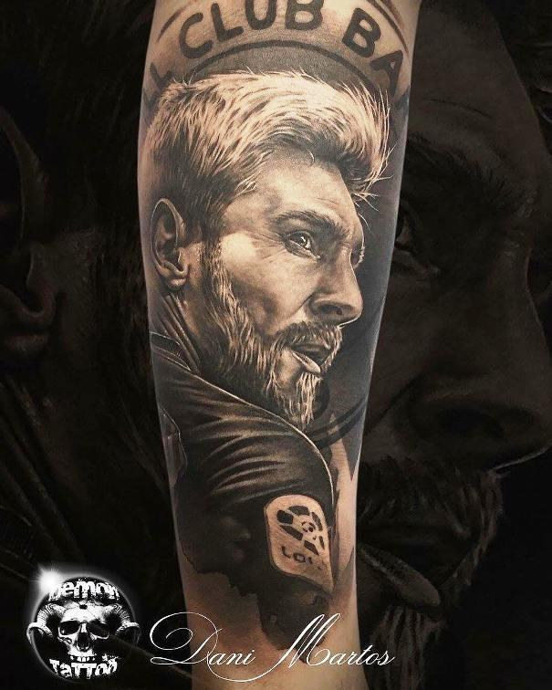 татуировка барселона лео месси